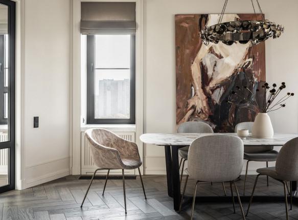 Екатерина Гафина и Юлия Никулина: объединение двух квартир в скандинавском стиле