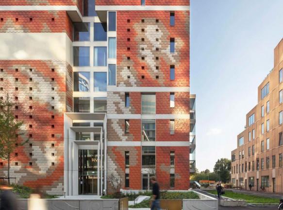Зеленый жилой комплекс в Зуйдасе по проекту Dok Architecten