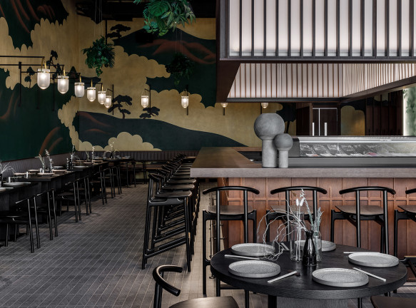 Ресторан японской кухни по проекту Arch(e)type в Москве
