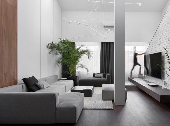 Line Design Studio: двухуровневая квартира в Гурьевске