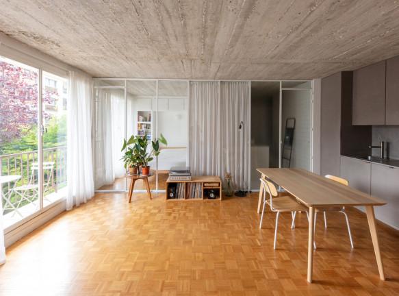 Парижская квартира: перепланировка на 42 кв. метрах