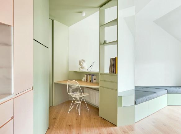 Квартира-трансформер 60 кв. метров в Барселоне по проекту студии AMOO