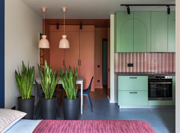 Вера Прохорова: маленькая квартира с цветом в Минске
