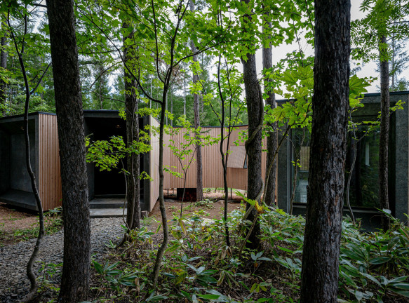 Florian Busсh Architects: дом в лесах Хоккайдо