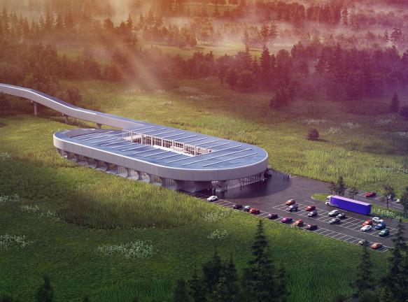 Bjarke Ingels Group: полигон для сертификации вакуумного поезда
