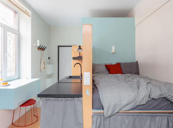 Dvekati: апартаменты 17 кв. метров