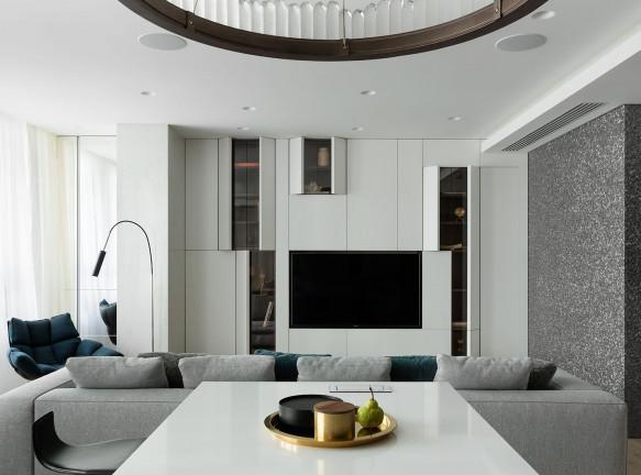 Shamsudin Kerimov Architects: квартира для семьи с четырьмя детьми