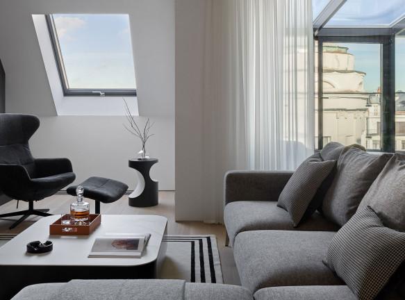 Сергей Ларичев: мансардная квартира для семьи с двумя детьми