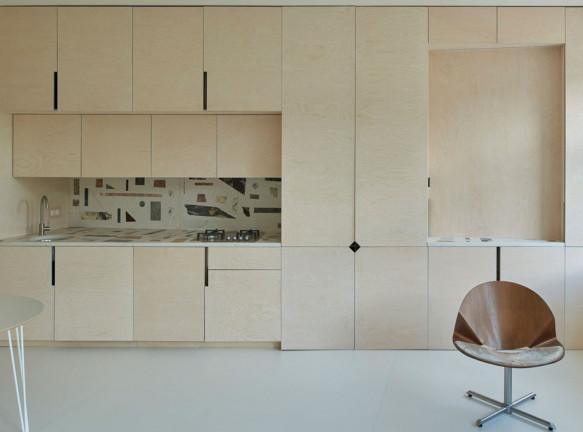 ŠA Atelier: маленькая квартира 38 кв. метров в Вильнюсе