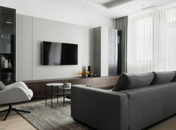 Is Architects: семейная квартира в серых тонах