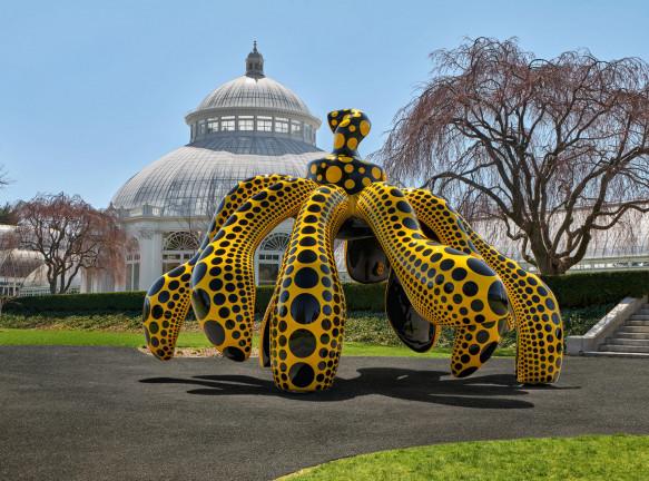 Выставка Яёи Кусамы в ботаническом саду Нью-Йорка