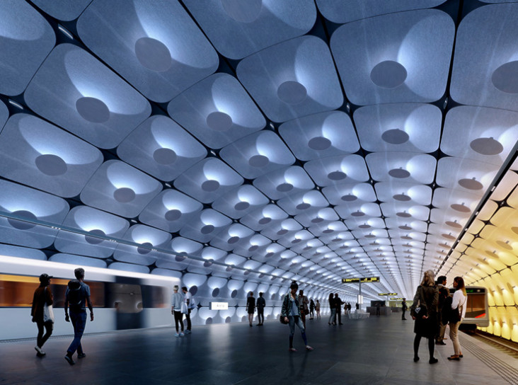 Zaha Hadid Architects построят метро в Осло