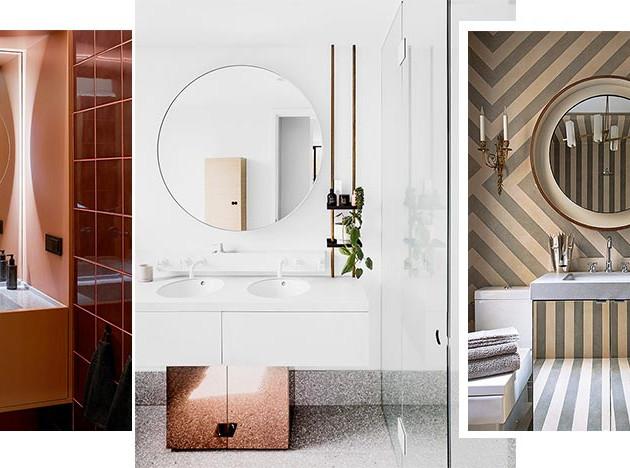 Зеркало в ванной комнате: 40 примеров