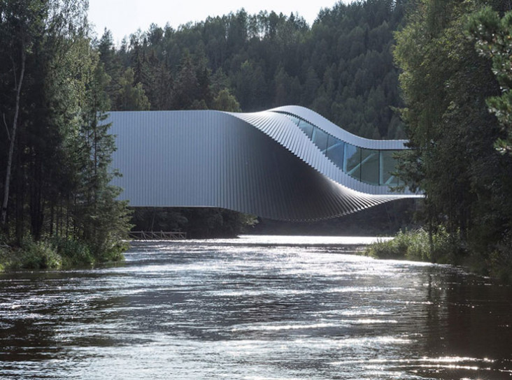 Музей-мост Twist в Норвегии по проекту BIG