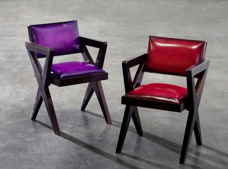 Мебель Пьера Жаннере в новых обивках Berluti