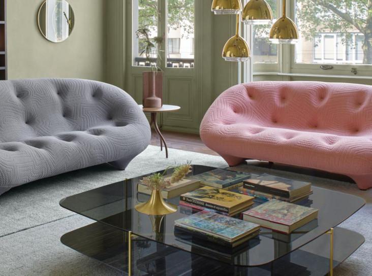 Розовый и зеленый в интерьере гостиной: 33 решения