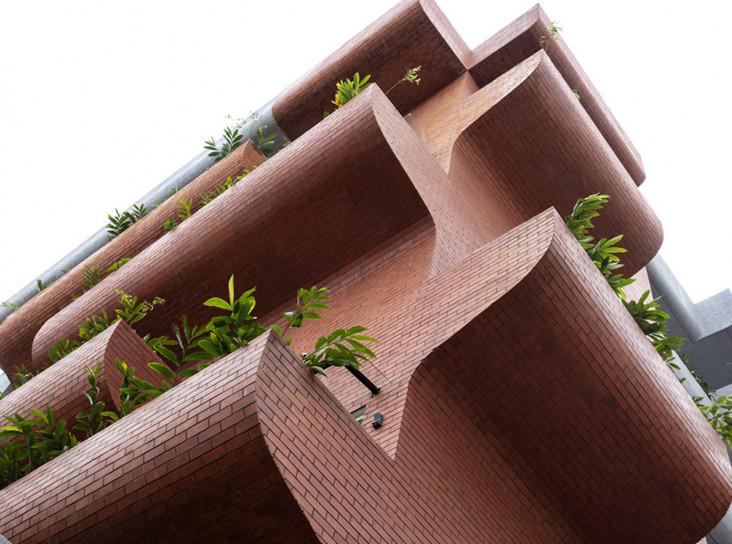 Дом-сад в Бангалоре по проекту The Purple Ink Studio