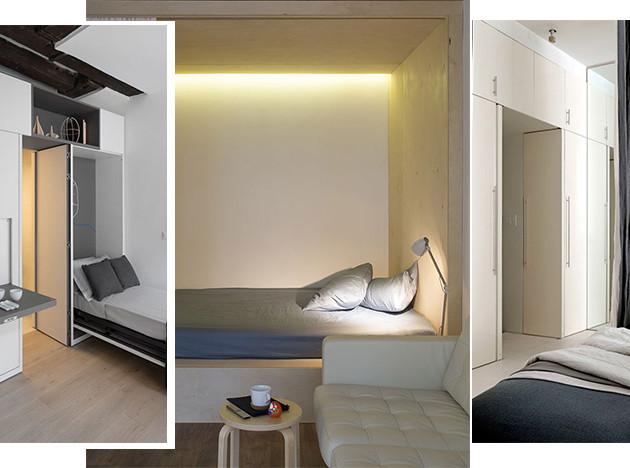 Спальня в маленькой квартире: 20 решений