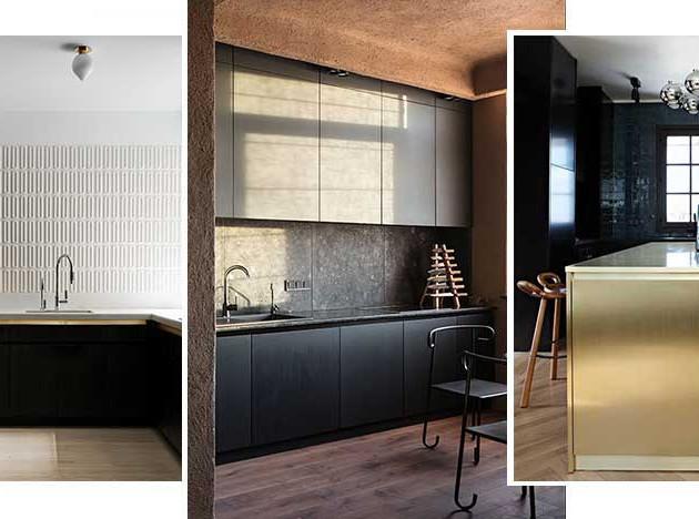Черные кухни: 25 вневременных решений