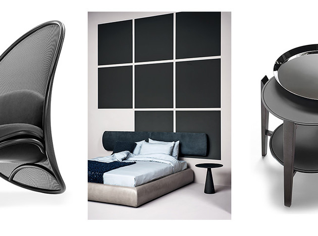 Космический черный: 25 примеров модной мебели