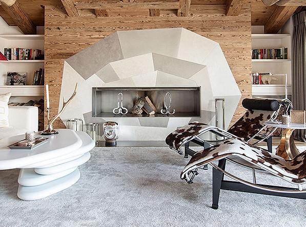 «Медведь»: модное шале в Швейцарских Альпах