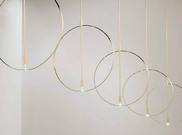 Кольца и линзы: светильник от студии Formafantasma