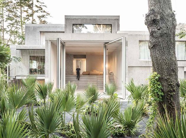 Юрген Майер: бетонный дом-куб в Германии