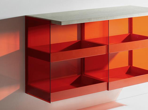 Штефан Диц: цветная мебель для Burgbad