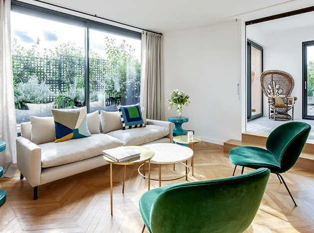 BR Design Interieur: квартира с видом на Эйфелеву башню