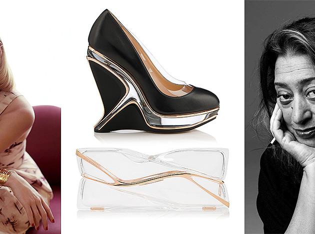 Туфли и клатчи Charlotte Olympia x Zaha Hadid Design