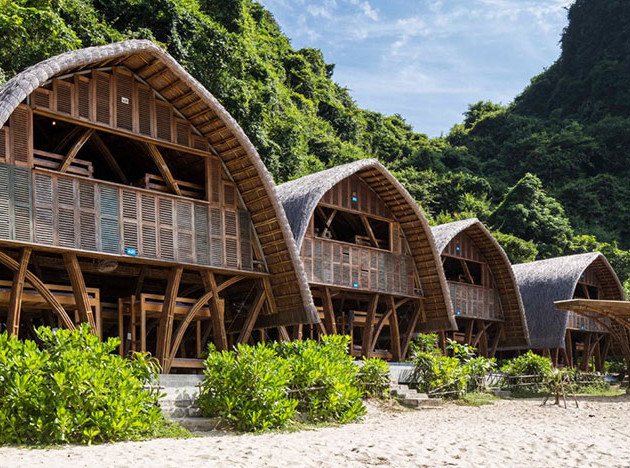 Castaway Island: бамбуковые виллы на острове