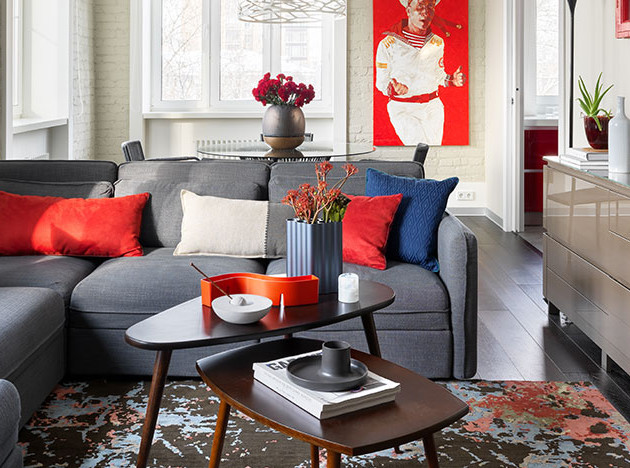 MNdesign: красная квартира на Малой Бронной