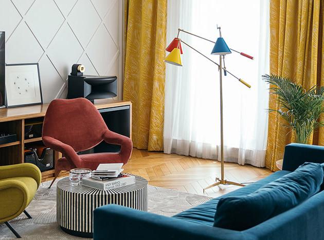 Агнес Рудзите: рижская квартира в духе mid-century modern