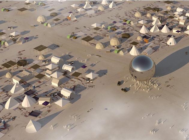 Большая идея BIG: шар в пустыне