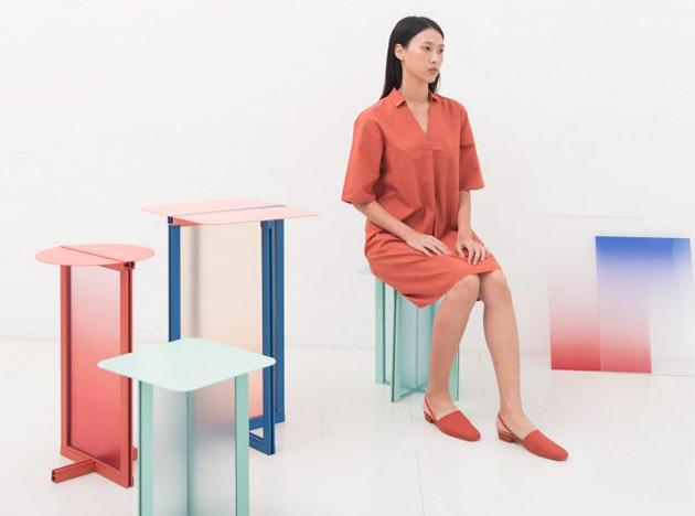 Femme Atelier: столики из цветного акрила