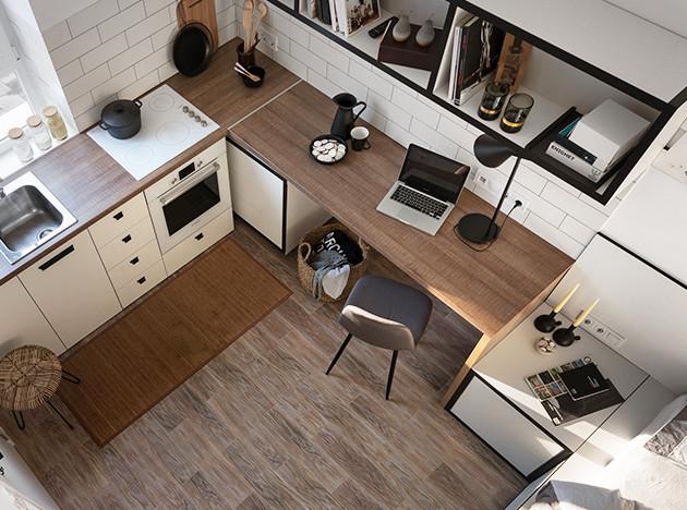 Fateeva Design: маленькая квартира для студента