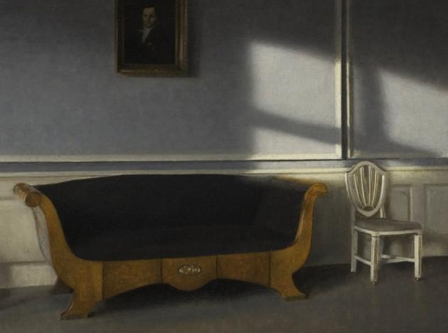 Датский интерьер на картинах Вильгельма Хаммерсхёя