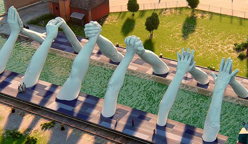Арт-биеннале в Венеции: скульптура Лоренцо Куинна