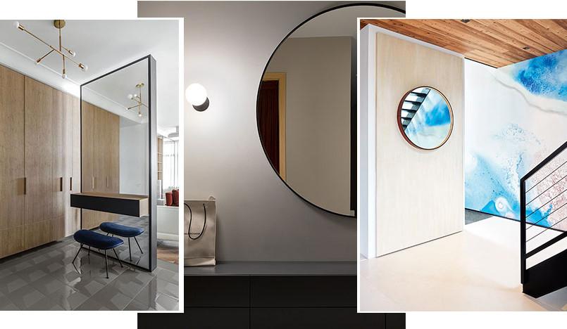 Зеркало в прихожей: 55 примеров