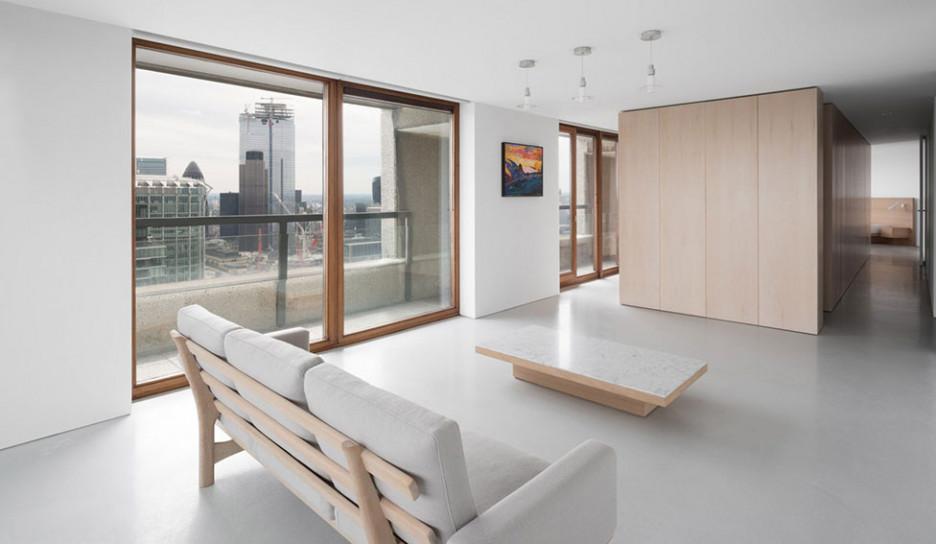 Джон Поусон: минималистичная квартира в Барбикане