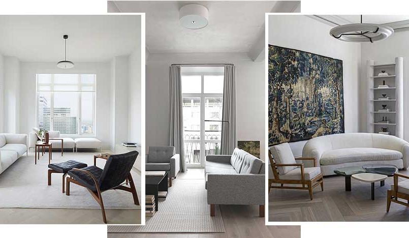 Белая гостиная: 55 вариантов