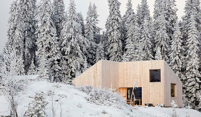 Mork-Ulnes Architects: дача в норвежском лесу