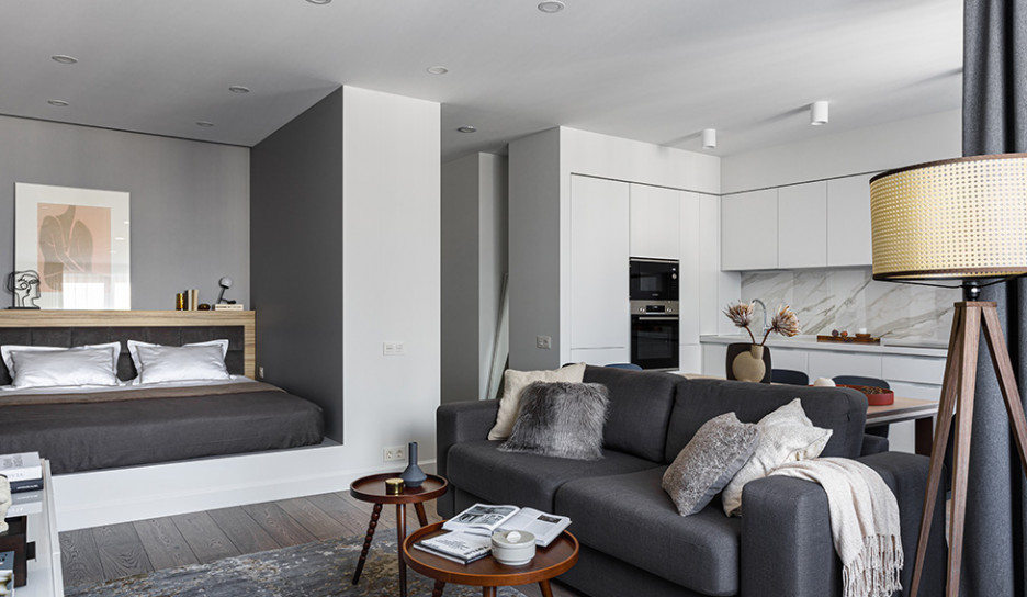 Elements Studio: квартира 50 кв. метров для молодой пары