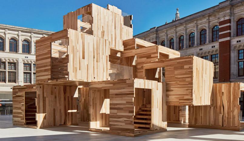 Деревянный лабиринт в Музее Виктории и Альберта