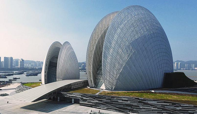 Оперный театр на острове Чжухай
