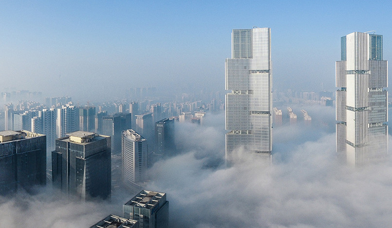 Gmp Architekten: башни-близнецы в Чжэнчжоу