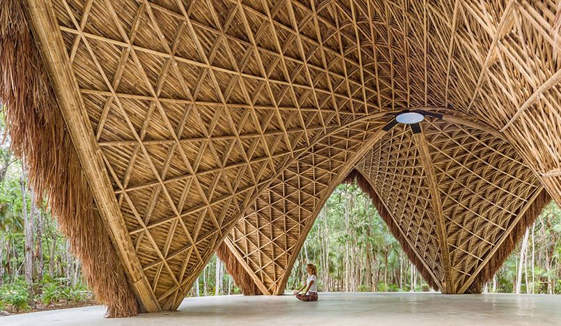 Бамбуковый павильон для занятий йогой