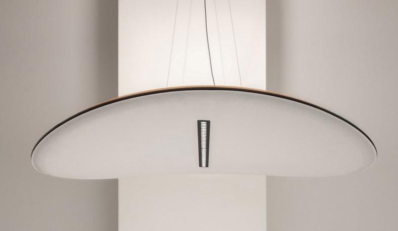 Euroluce 2019: звукопоглощающий светильникDerby