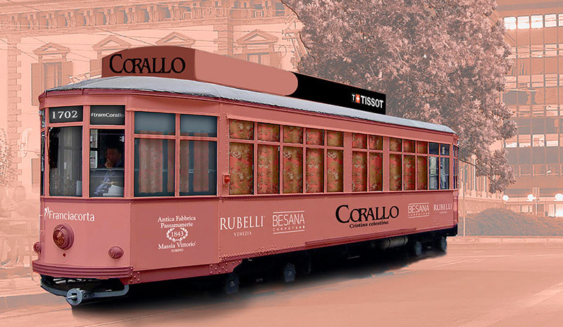 Кристина Челестино для Rubelli: трамвай Corallo