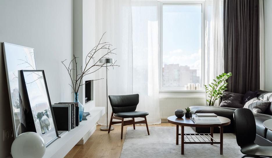 Елена Соренсен: лаконичная квартира 100 кв. метров в Москве